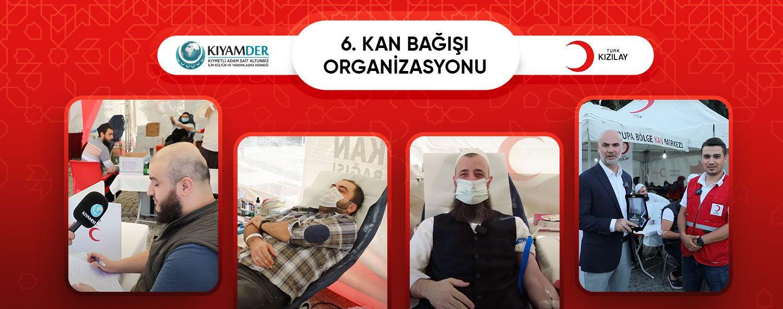 Türk Kızılayı ve KIYAMDER İşbirliği İle 6. Kan Bağışı Organizasyonu